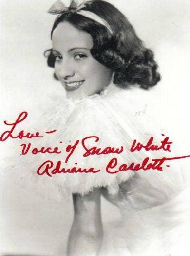 Adriana Caselotti Snow White Disney