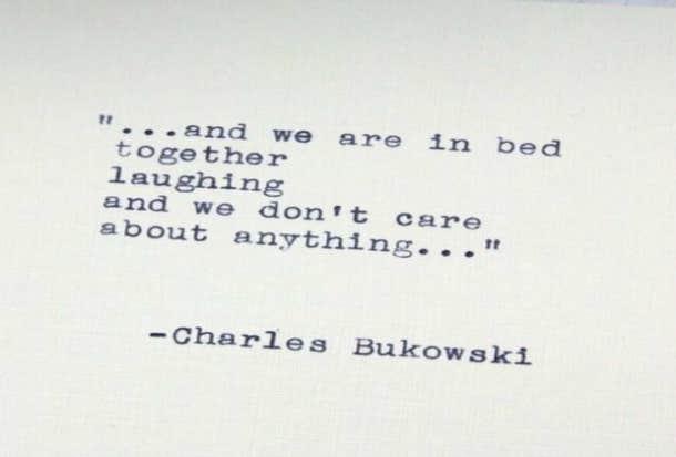 bukowski love poems