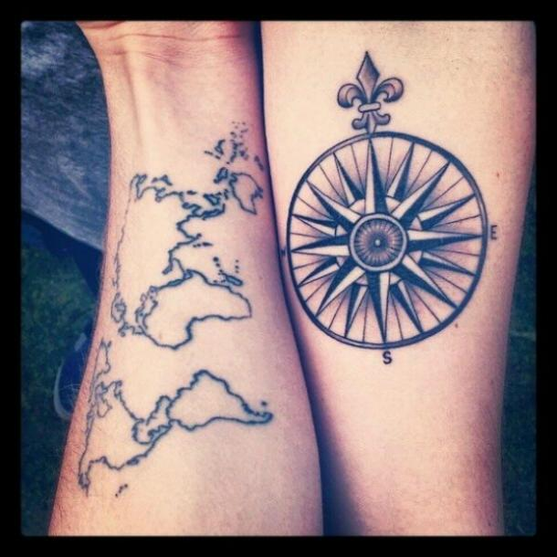 Matching Tattoos For The 6 Perfectly Compatible Zodiac Sign Couples