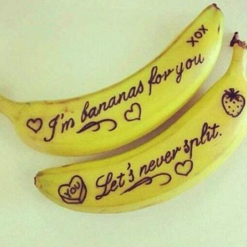 bananas couple love note