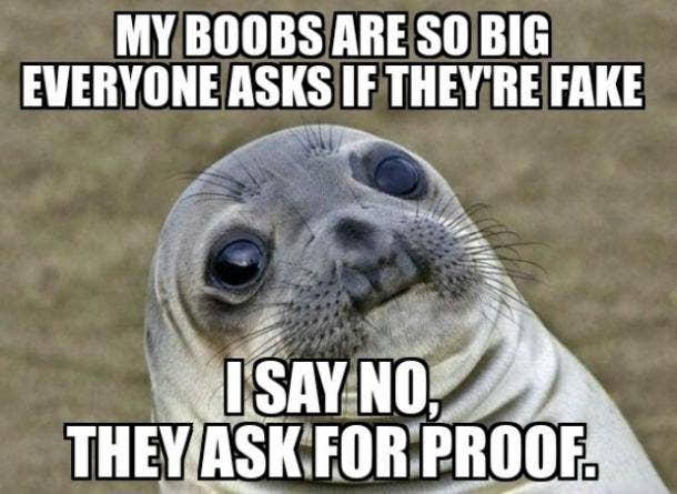 big boob memes