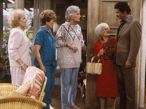 "<a href=""http://snakkle.wpengine.netdna-cdn.com/wp-content/uploads/2012/05/betty-white-rue-mcclanahan-bea-arthur-estelle-getty-burt-reynolds-golden-girls-tv-season-two-ladies-of-the-evening-1986-photo-GC.jpg""/>Burt Reynolds on ""The Golden Girls""</a>"