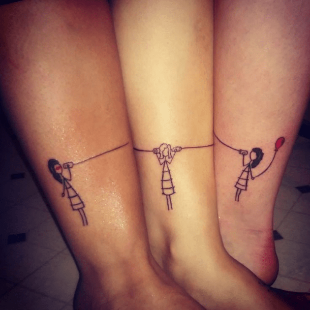 Phone tag matching best friends tattoo
