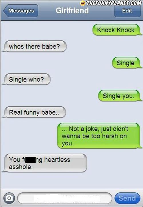Texting jokes to a girl