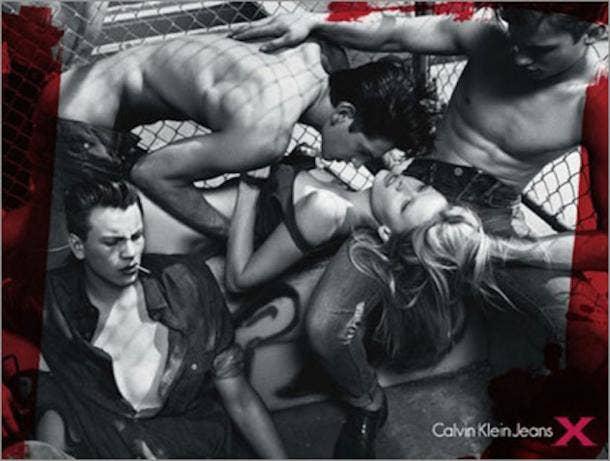 calvin klein rape ad