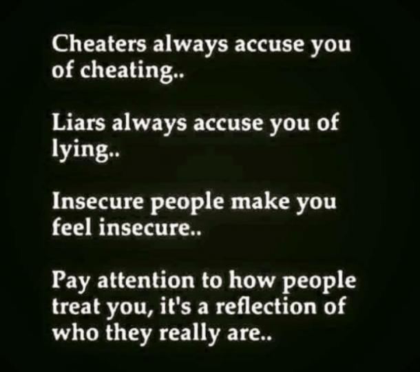 If someone accuses you of cheating are they cheating