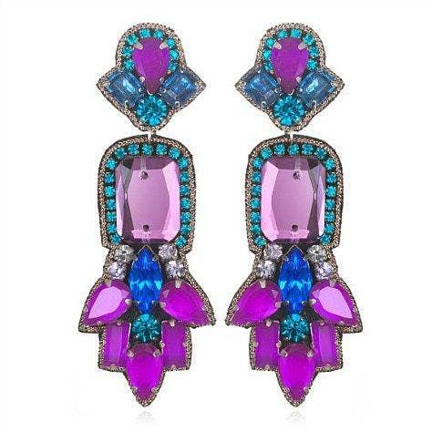"""<a href=""""http://www.charmandchain.com/jewelry/earrings/fireworks-drop-earrings-purple-multi"""">charmandchain.com</a>"""
