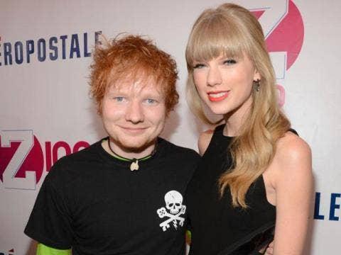 Taylor Swift and Ed Sheeran