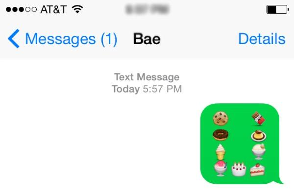 I'm sweet on you in emojis