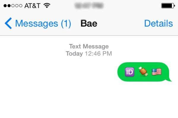 I'd bone us in emojis