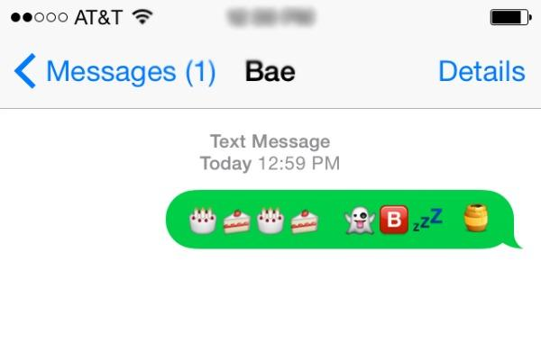 when guys use emoticons in texts