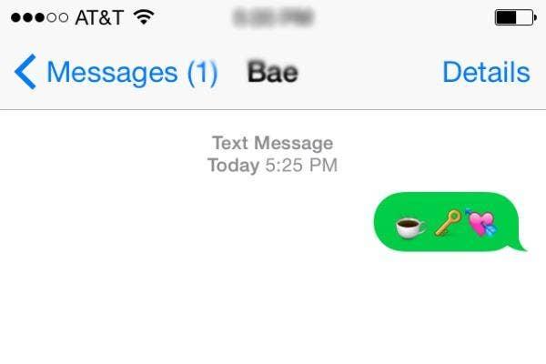 Romantic emoji sentences