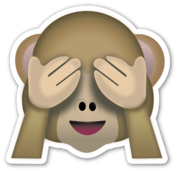 The monkey emoji(s) — cute but casual