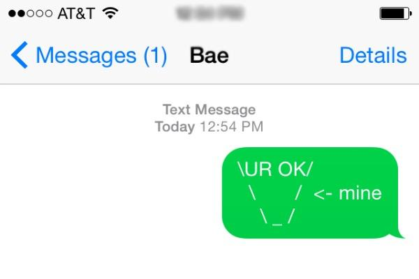 You're ok in my book in emojis