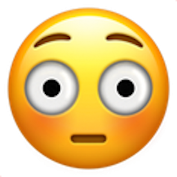 The emarrassed face emoji — for when things get a little rated R