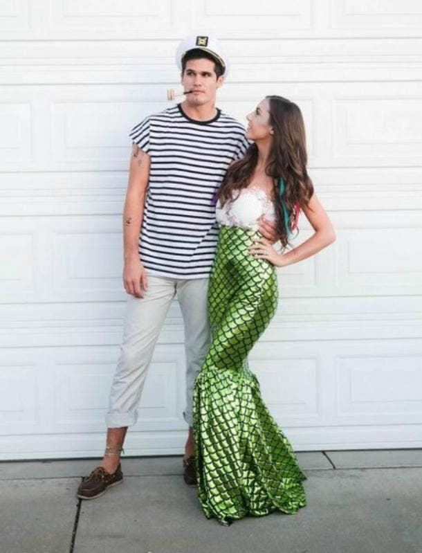 Fisherman and Mermaid couples costume
