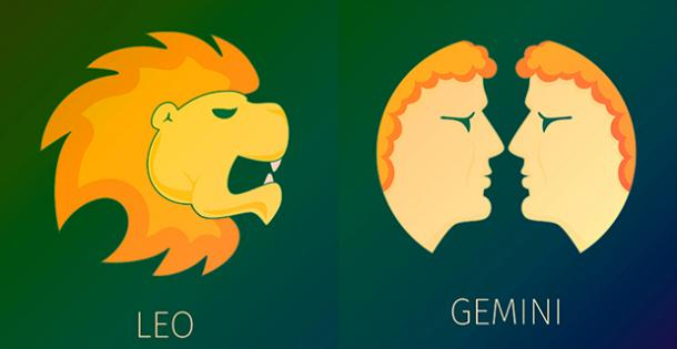 Gemini and Leo compatible zodiac signs will find true love together