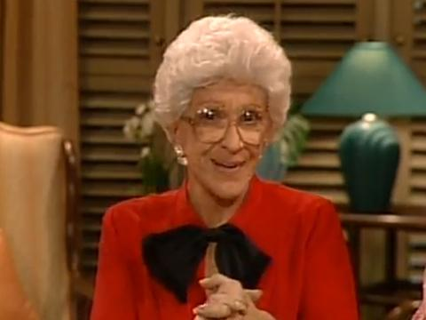 """<a href=""""http://goldengirls.wikia.com/wiki/File:Aunt_Angela.png""""/>Nancy Walker as Aunt Angela Vecchio on """"The Golden Girls""""</a>"""