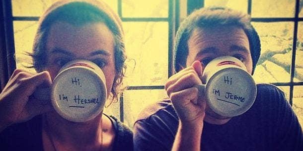 Harry Styles drinking coffee - Instagram