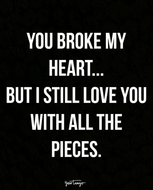 Broken heart photos with quotes
