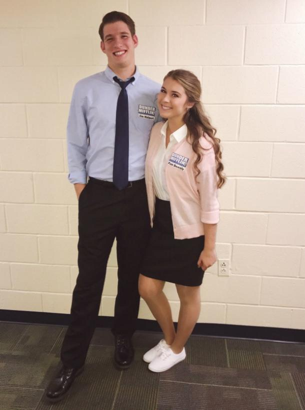 Jim and Pam from The Office couples costume
