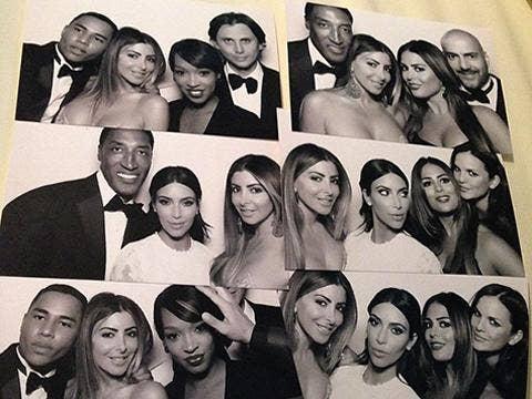 Kanye West & Kim Kardashian wedding - Instagram