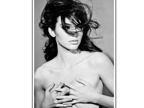 Kendall Jenner topless for Interview