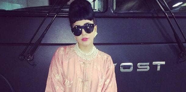 Lady Gaga in shades - Instagram