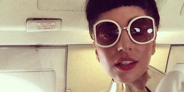 Lady Gaga in glasses - Instagram