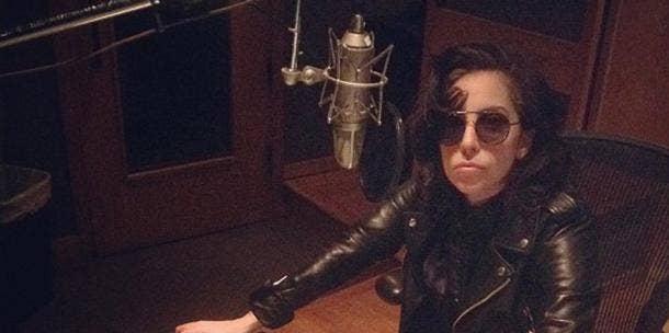 Lady Gaga in the studio - Instagram