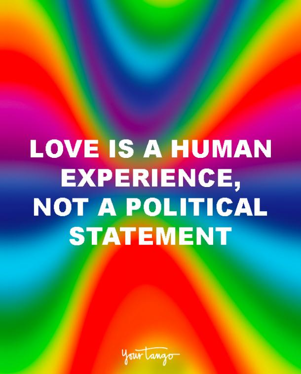 love is a human experience lgbt quotes love