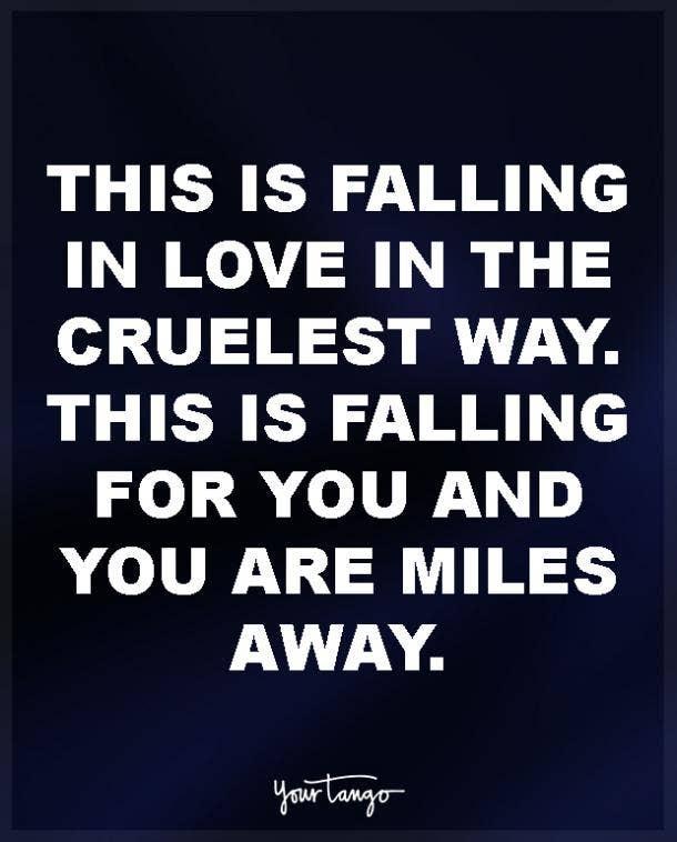 Love miles away quotes