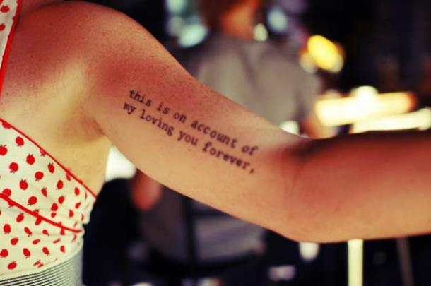 60 Love Quotes To Inspire Your Next Tattoo YourTango Unique Tattoo Quotes About Love