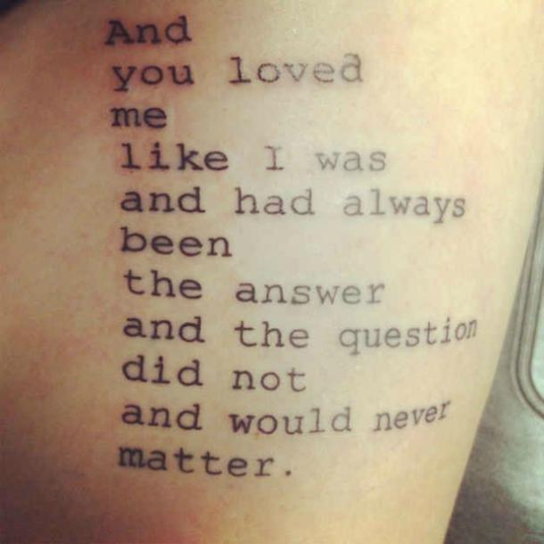 Love Quotes Tattoo Quotes. U201c