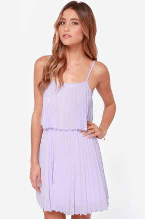Lulu's Pleats on Earth Lavender Dress