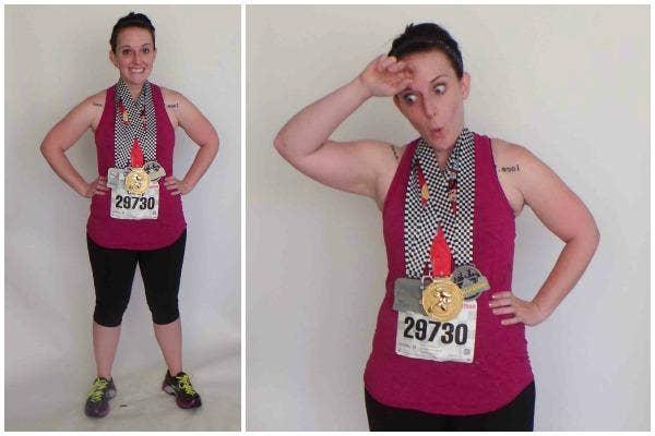 Accessories: Running Shoes, Marathon Bib, Medals