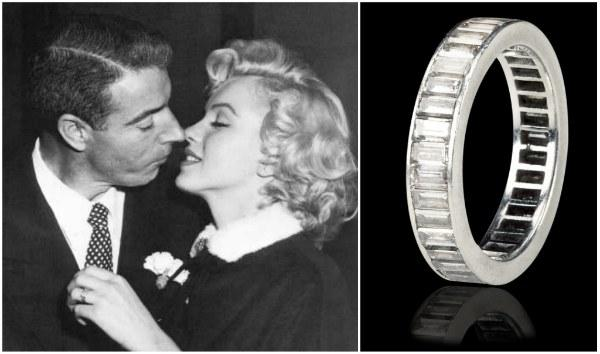 "<a href=""http://latimesblogs.latimes.com/alltherage/2011/09/wedding-ring-dimaggio-gave-marilyn-monroe-to-hit-the-auction-block.html"">latimes.com</a>"