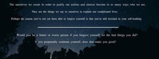 13. Forgive yourself.