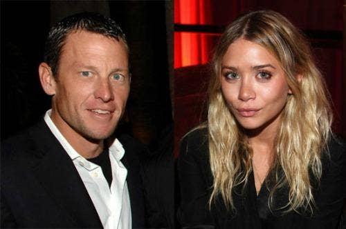 "<a href=""http://www.popsugar.com/Lance-Armstrong-Denies-Dating-Ashley-Olsen-813936"">2. Lance Armstrong and Ashley Olsen</a>"