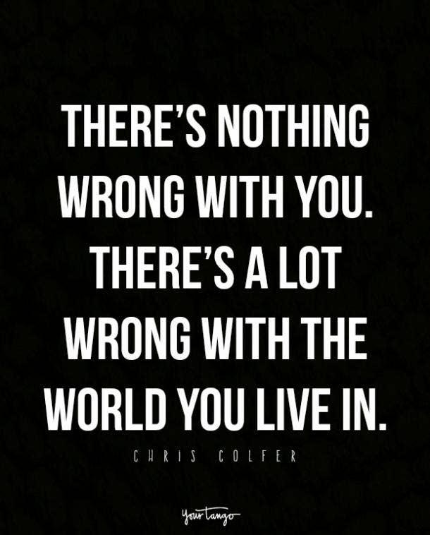 Chris Colfer pride month quotes
