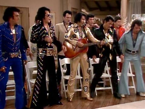 """Quentin Tarantino as an Elvis impersonator on """"The Golden Girls"""""""