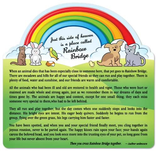 """<a href=""""http://www.petexpectations.com/RainbowBridgePoemMagnet-1.aspx"""">http://www.petexpectations.com</a>"""