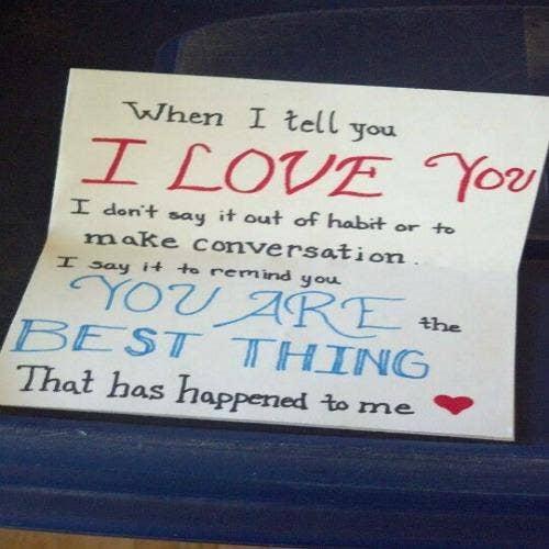 love romance note