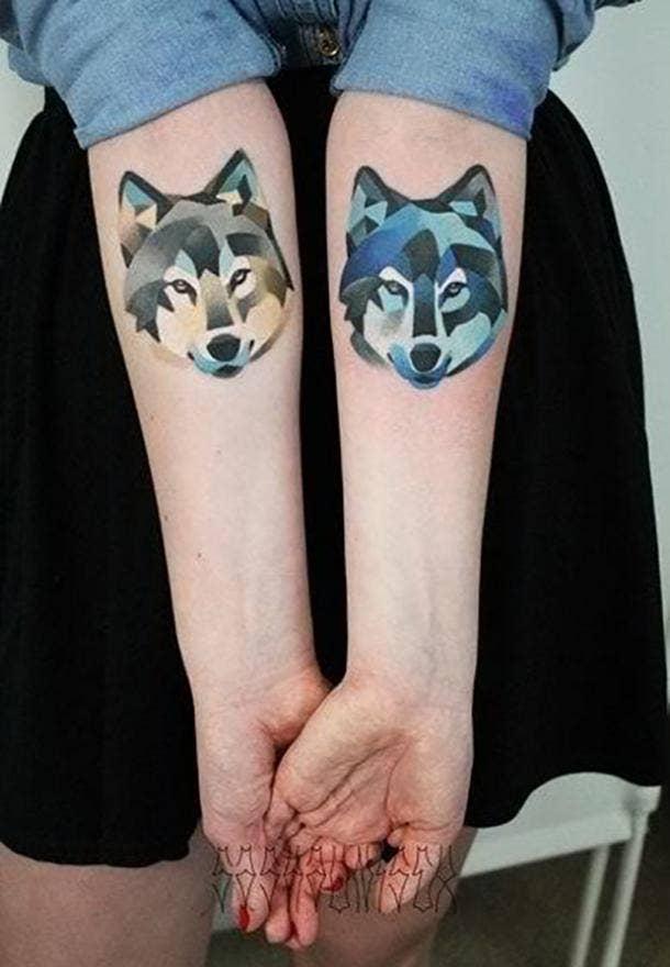 Sasha Unisex Color Block Unique Tattoo