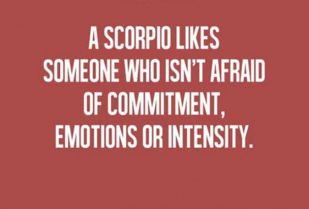 scorpio courage