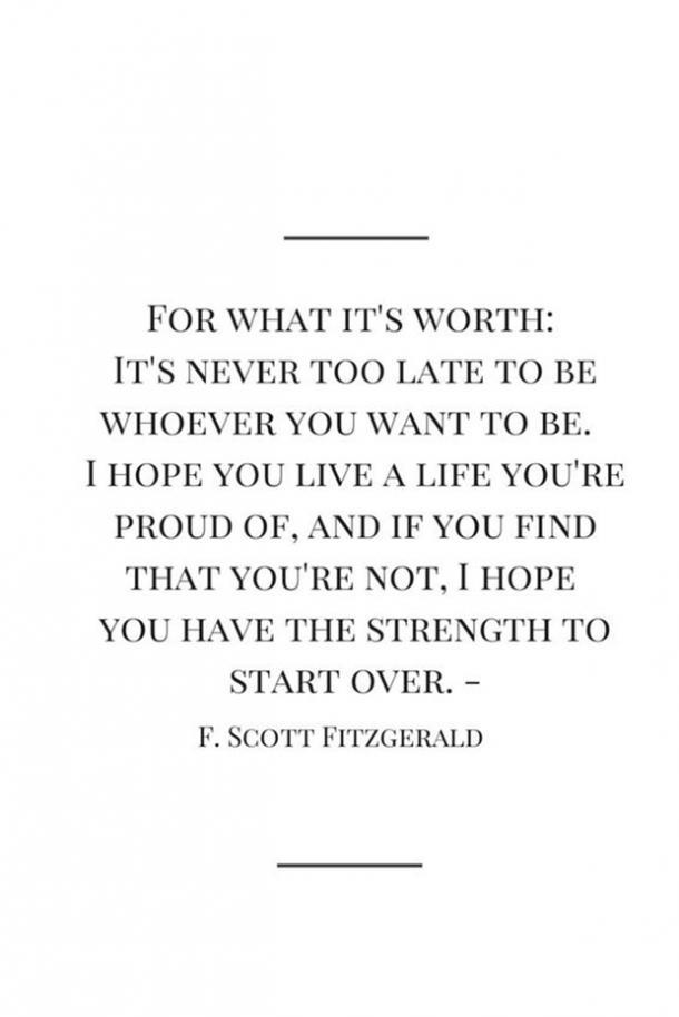 f scott fitzgerald starting over quote
