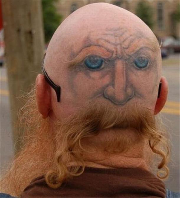 Head tattoo fail