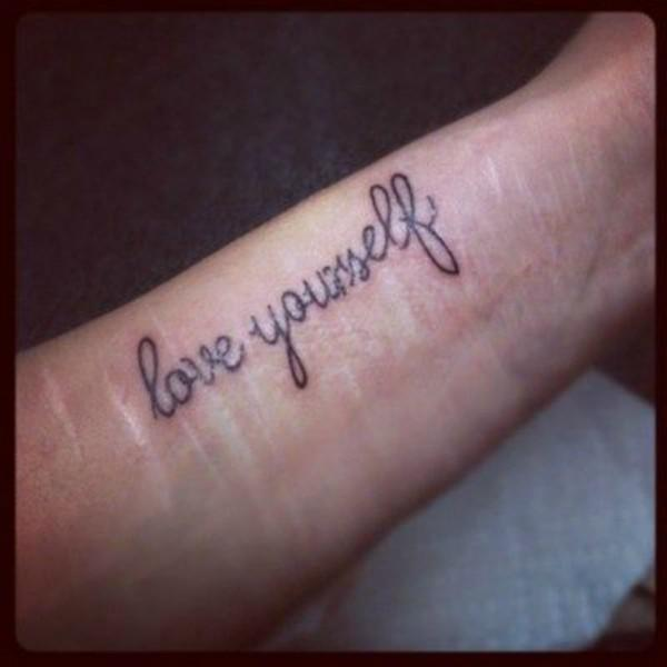 self harm cutting depression tattoo