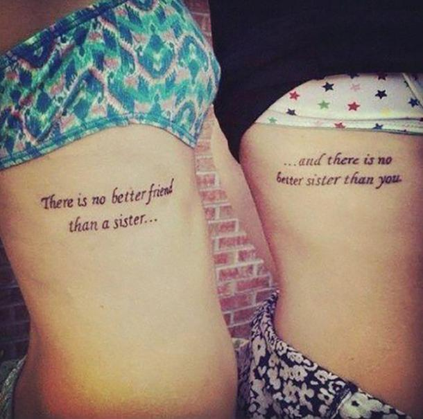 10 Sister Quotes To Use For Your Next Matching Tattoo ...