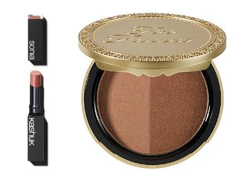 Too Faced Sun Bunny Natural Bronzer and Sonia Kashuk's Shine Luxe Lip Color in Sheer Pink Lust